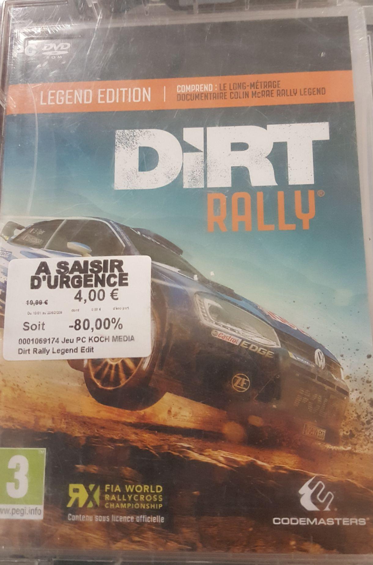 Sélection de jeux en promotion - Ex : Dirt Rally Legend Edition à 4€ - Claye-Souilly (77)