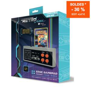 Manette de jeu Steelplay Edge NES Mini Classic + livre de codes triches