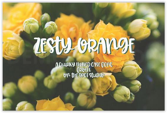 Police d'écriture Zesty Orange gratuite