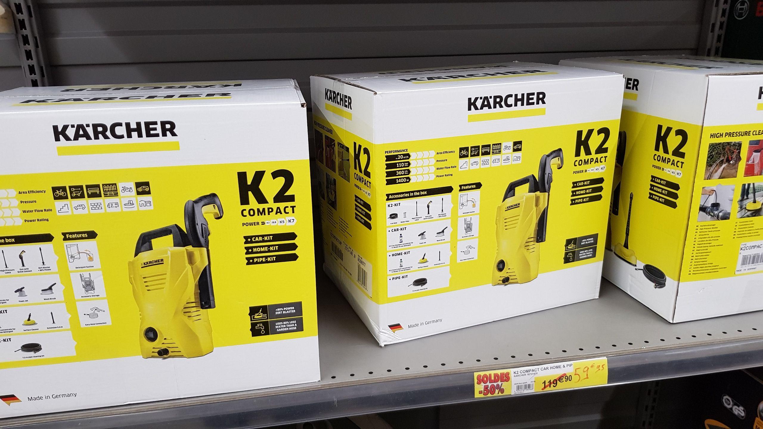 Nettoyeur haute pression électrique Kärcher K2 Compact Car 1400 W - Vichy (03)