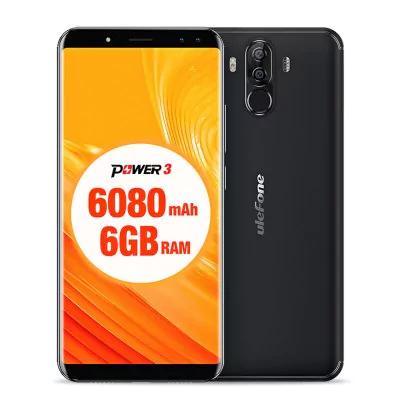 """Smartphone 6"""" Ulefone Power 3 - Helio P23, 6 Go de RAM, 64 Go, 6080 mAh"""
