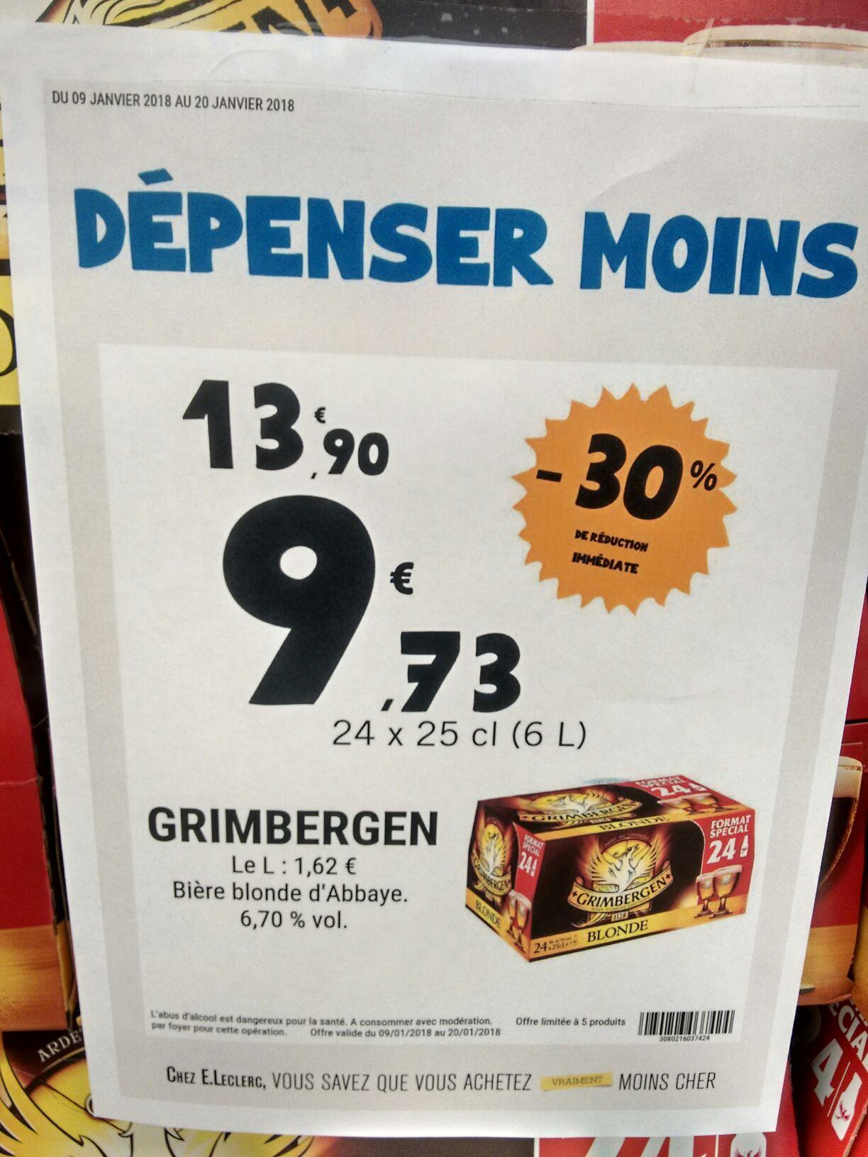 Pack de 24 Bières Grimbergen - 24x25 cl