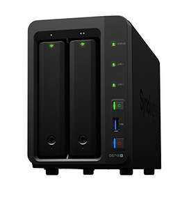 Serveur NAS Synology DiskStation DS718+ (2 baies) + 2 disque durs Western Digital Red (6 To)