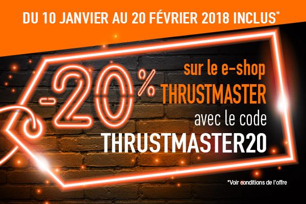 20% de réduction sur le shop Thrustmaster