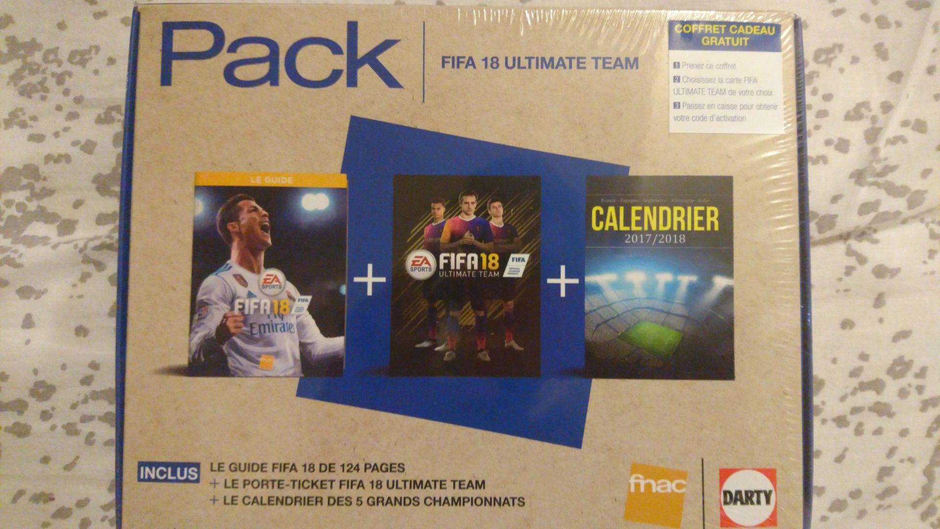 Coffret cadeau gratuit pour l'achat d'un pack de carte FIFA ultimate team - Forum des Halles (75)