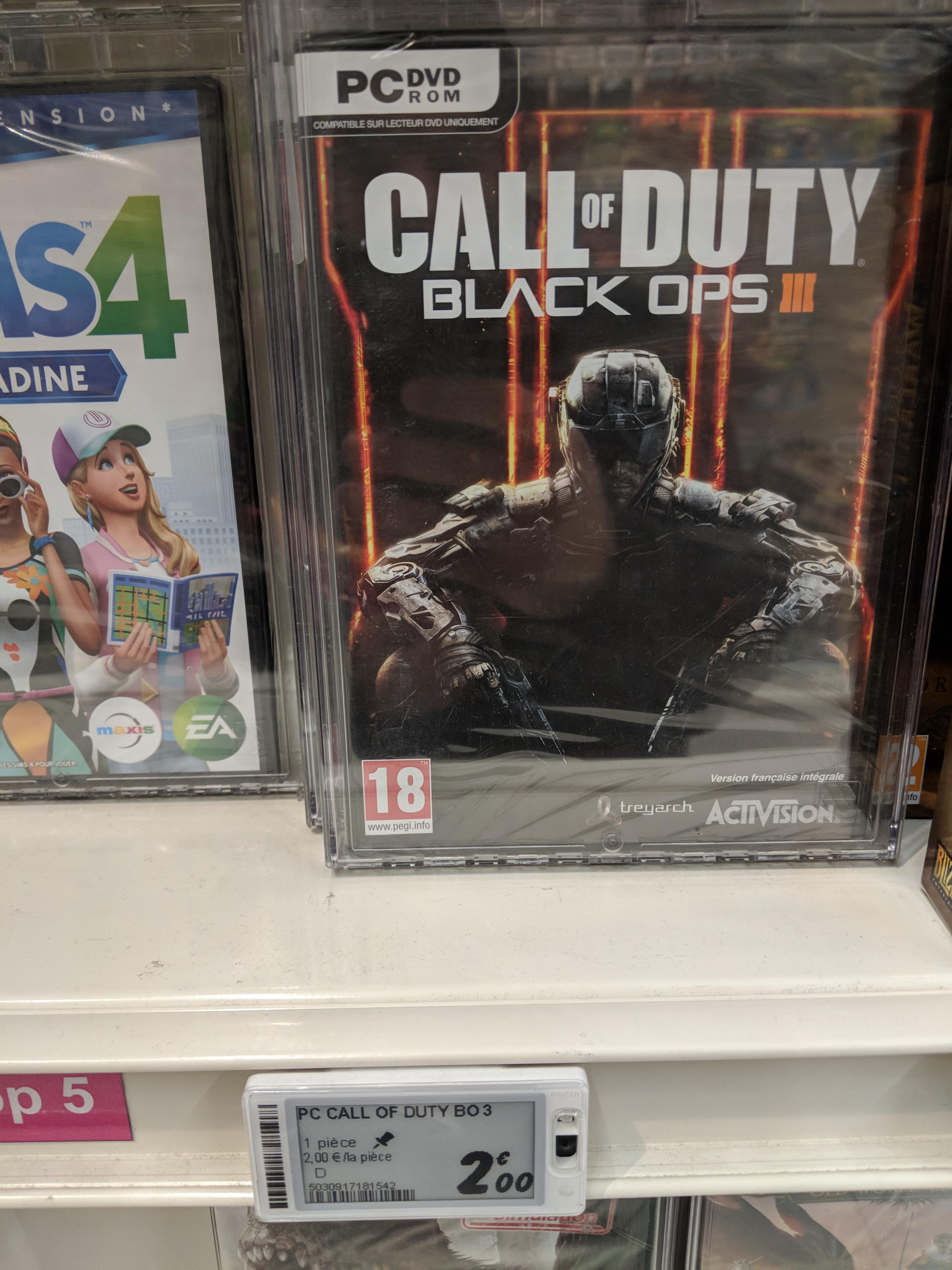 Call of Duty : Black Ops III sur PC - villeneuve la garenne (92)