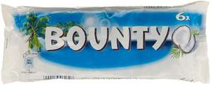 Lot de 8 packs de 6 barres chocolatées Bounty Cœur Coco 28,5 g