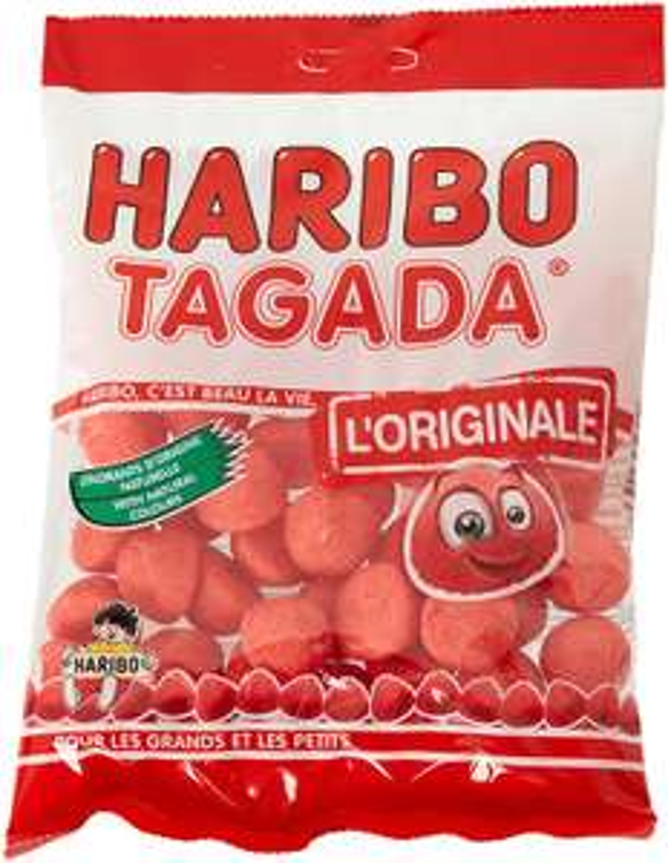 Lot de 10 paquets Haribo Fraises Tagada - 10 x 200grs