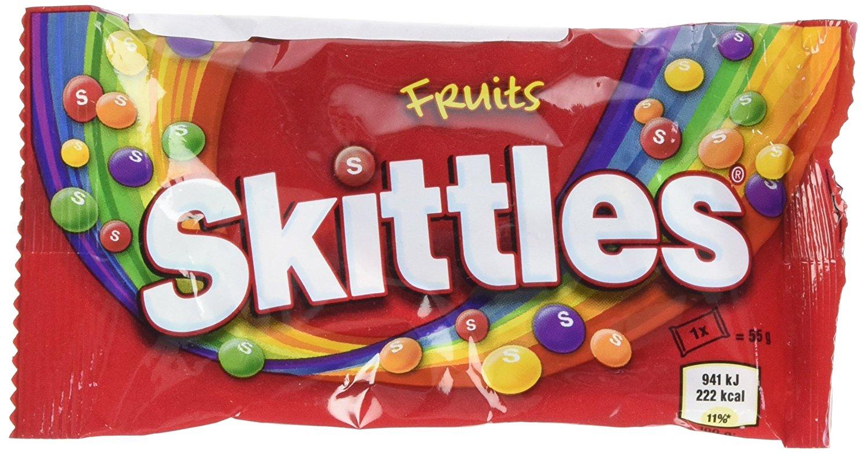 Lot de 9 paquets de Skittles Bonbons aux Fruits