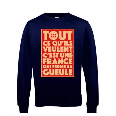 Sélection de CDs, sweats et tee-shirts Dub inc. en promotion - Ex : sweat Tout ce qu'ils Veulent - beige / bleu (du S au L) - Dub inc. Shop