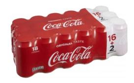 Pack de 18 canettes de Coca-Cola - 18x33cl