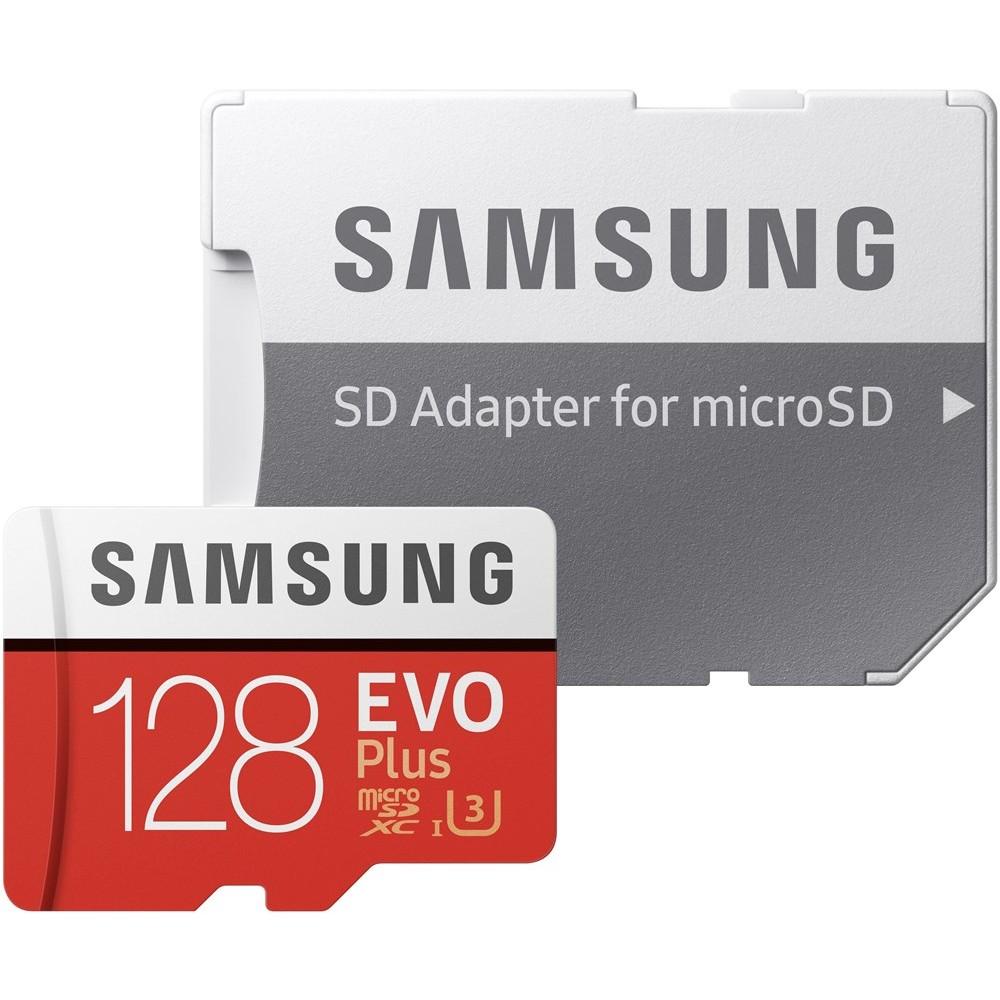Carte  microSDXC Samsung Evo+ U3 - 128Go + Adaptateur SD (Frontaliers Suisse
