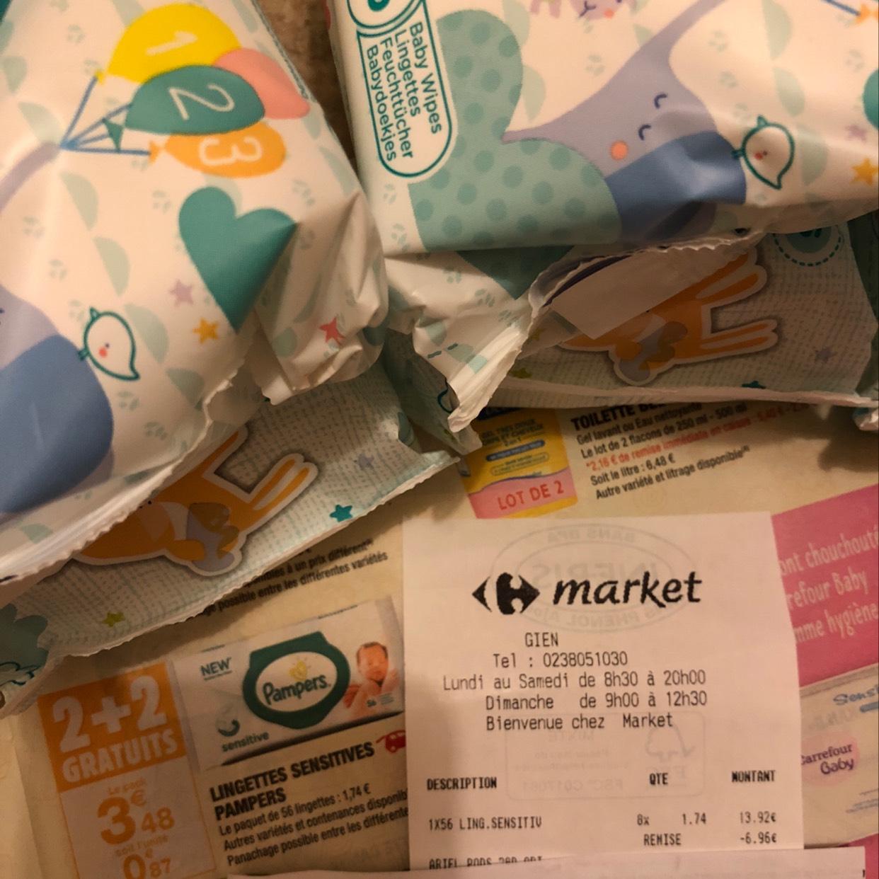 4 Paquets de 56 lingettes Pampers (via BDR)