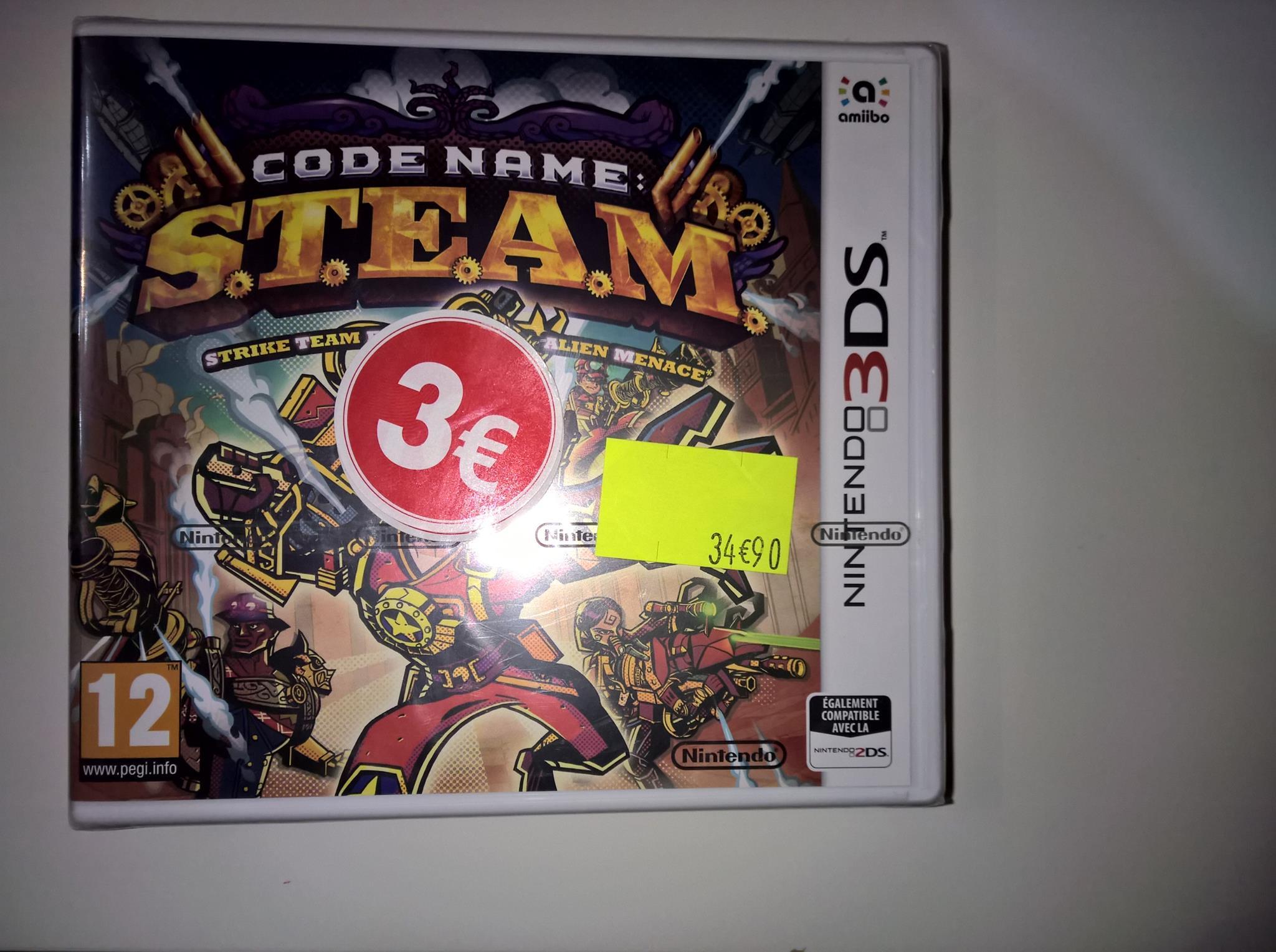 Sélection de Jeux Nintendo 3DS  en Soldes - Ex: Code Name S.T.E.A.M  - Feurs (42)
