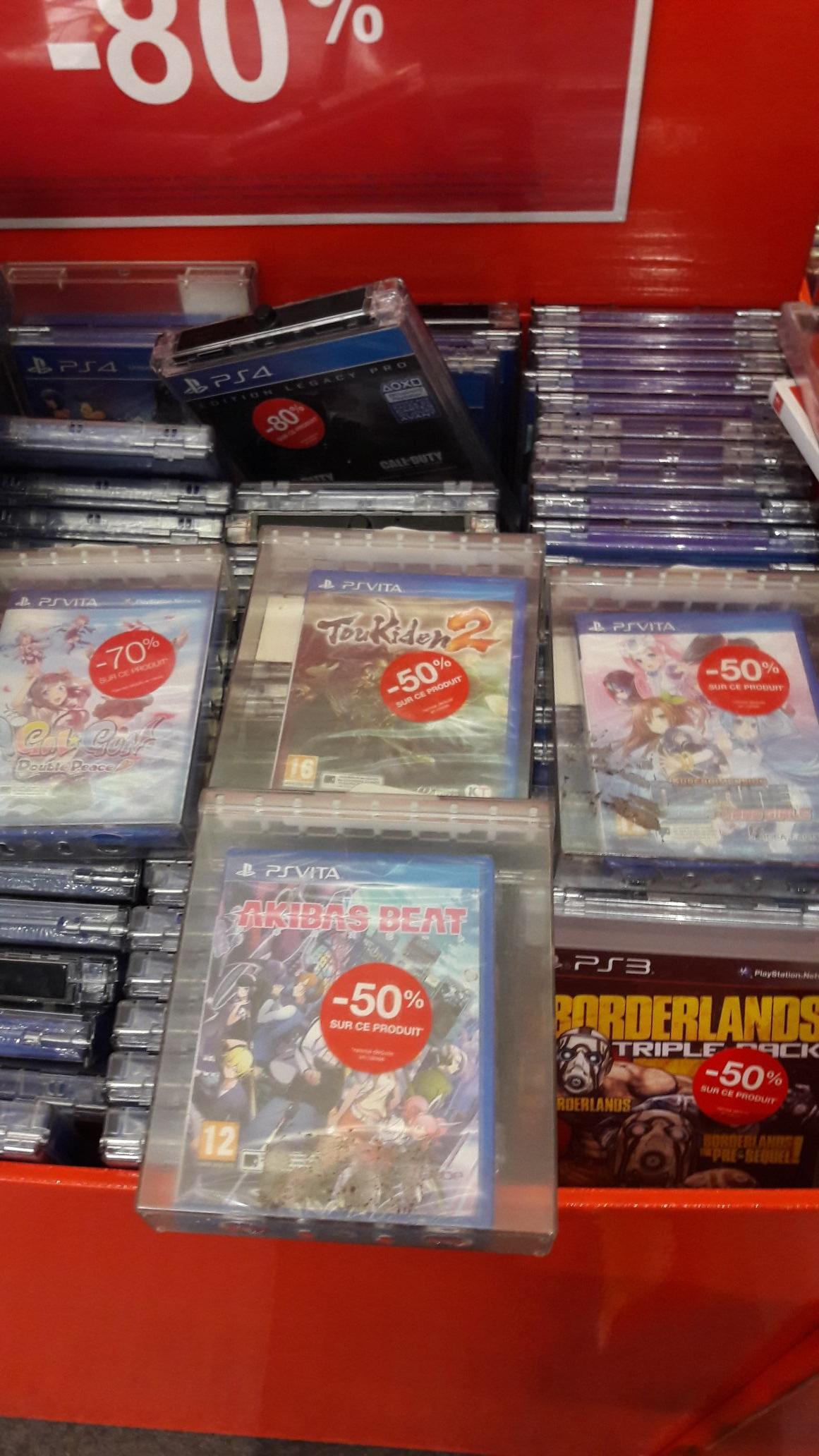 Sélection de Jeux PS Vita en Soldes - Ex: Gal*Gun: Double Peace - Les Arcades (93)