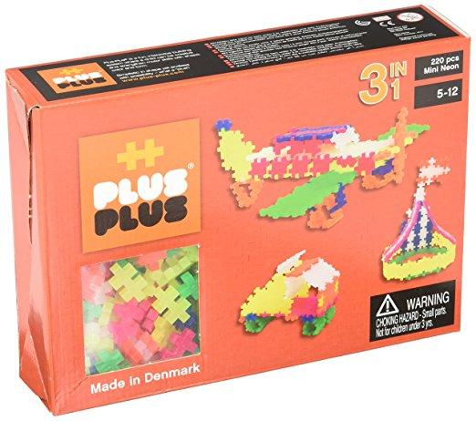 [Panier Plus] Jeu éducatif de construction Plus-Plus 52121 - Mini Neon 3-en-1 (220 Pièces)