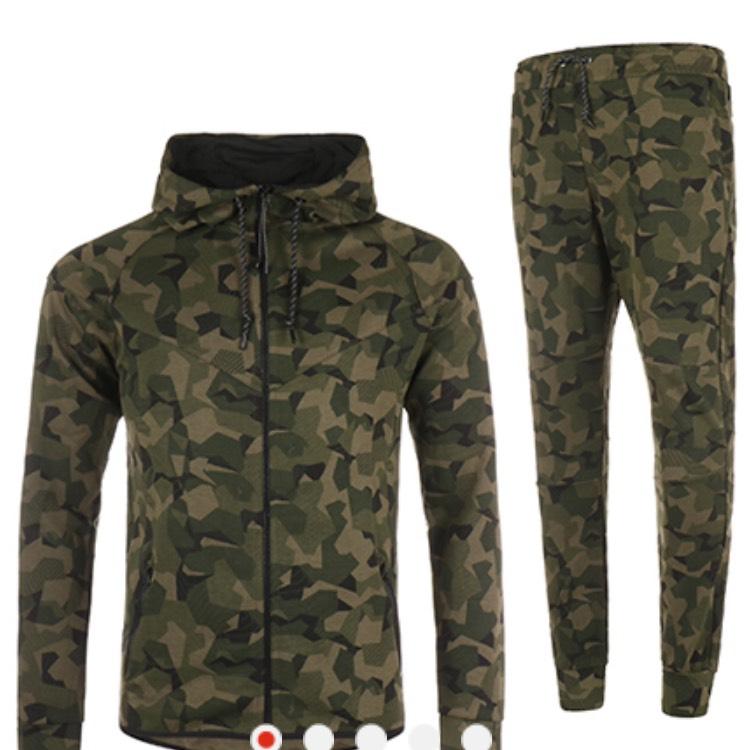 Ensemble de Survêtement John H Vert Kaki Camouflage - Tailles au choix