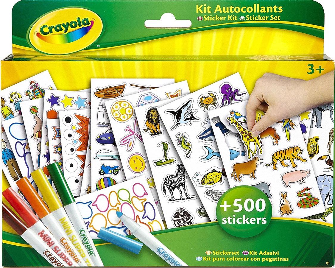 [Panier Plus]  Kit Coloriage et Autocollants Crayola - Kit de loisir créatif