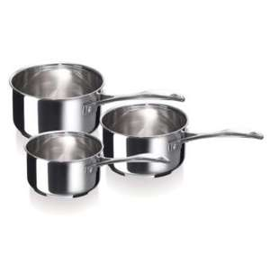 Lot de 3 casseroles inox 18/10 Bekaline Chef Beka