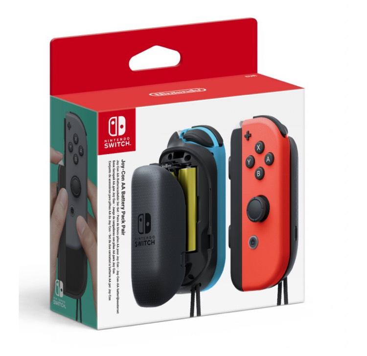 Paire de bloc-piles AA pour joy-con Nintendo Switch