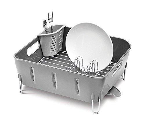 Égouttoir à vaisselle compact Simplehuman - Plastique Gris