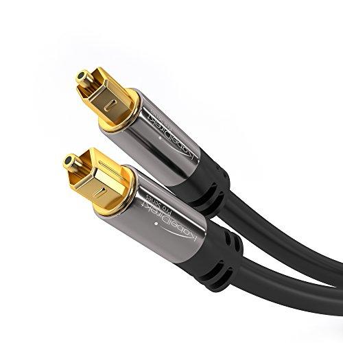 Câble audio optique Toslink KabelDirekt - 2m