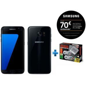 "Smartphone 5.5"" Samsung Galaxy S7 Edge Noir + Nintendo Classic Mini : Super Nintendo (via ODR de 70€)"