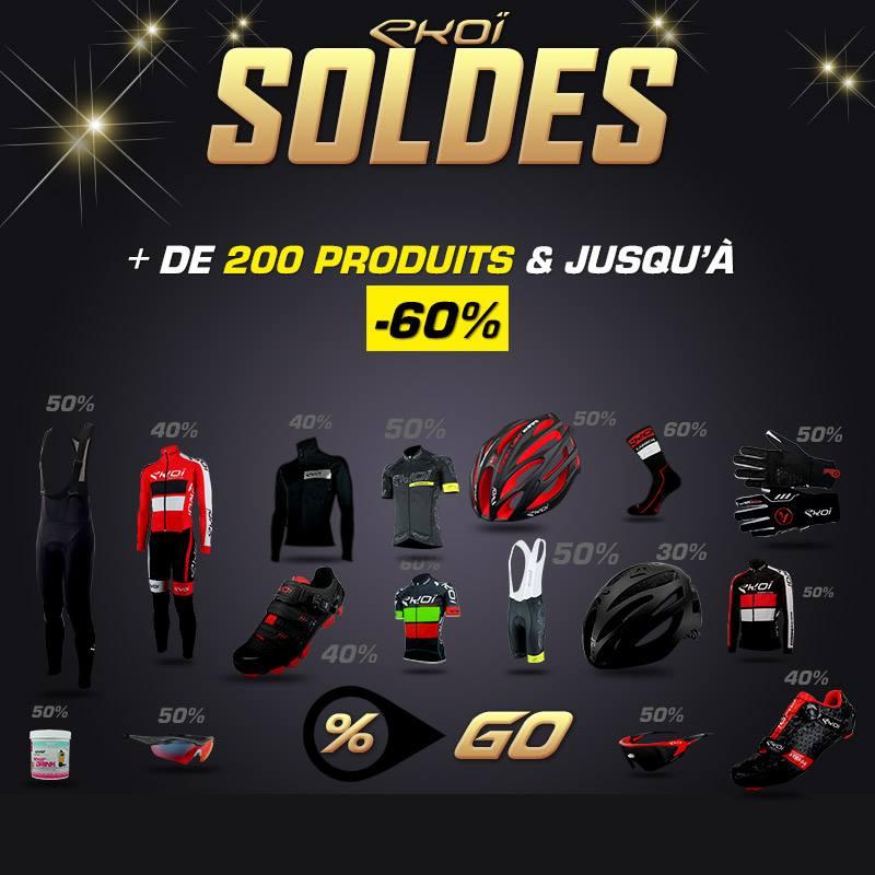 Jusqu'à 60% de réduction sur des équipements de cyclisme - Ex : Maillots, gants, tour de cou,..