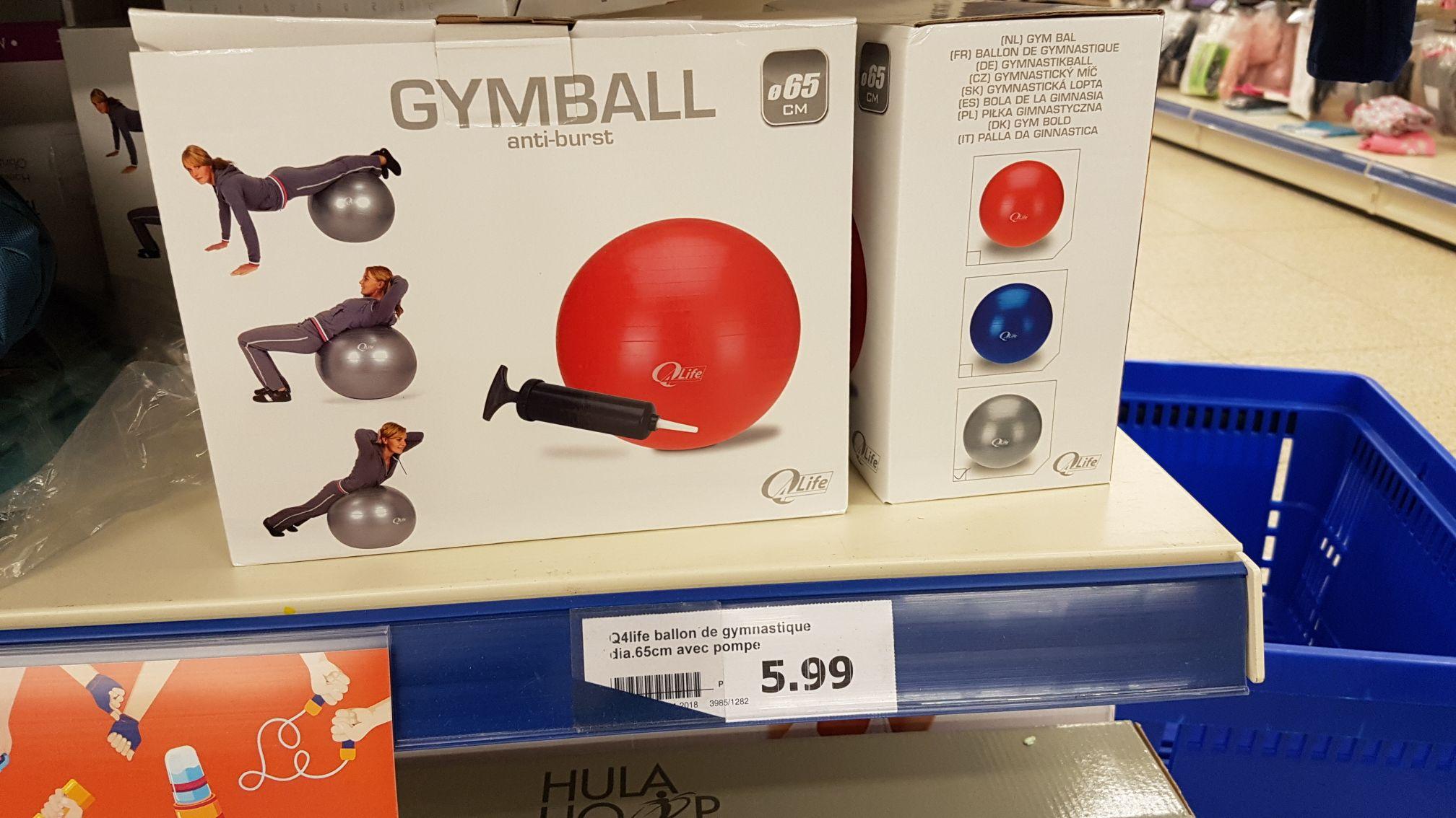 Ballon de gym - 65 cm