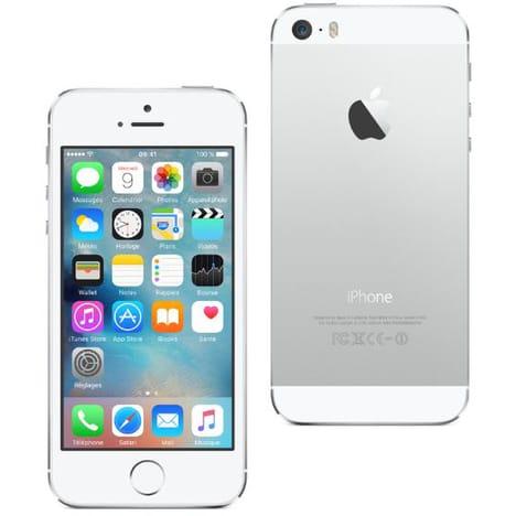 """Smartphone 4"""" Apple iPhone 5S (1 Go de RAM, 16 Go, argent) - reconditionné"""