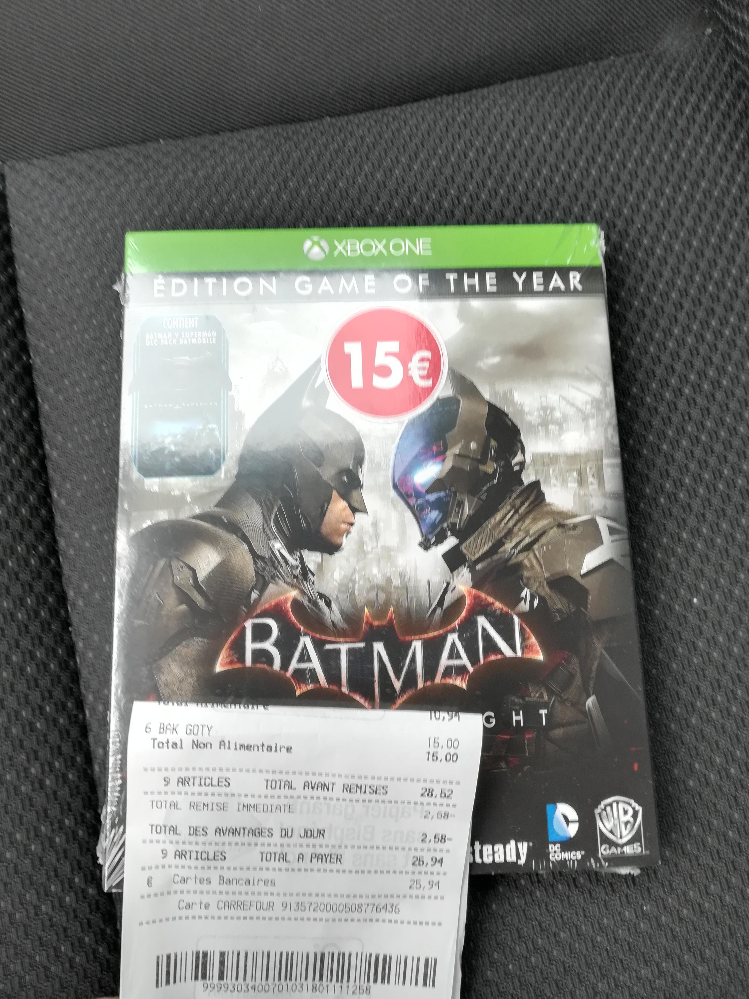 Sélection de jeux en promotion - Ex: Batman Arkham Knight GOTY sur Xbox One -  wasquehal (59)