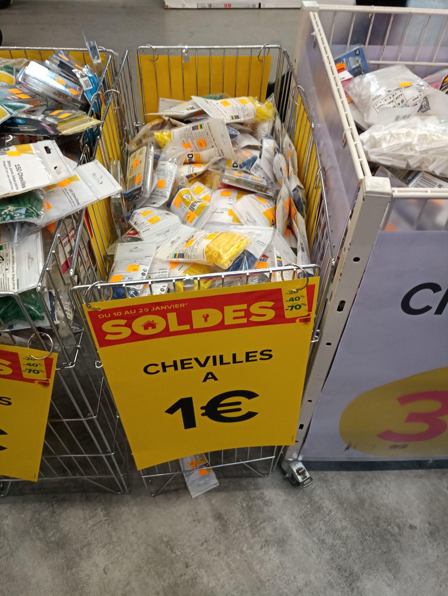 Toutes les Chevilles a 1€ - Bourg en Bresse (01)