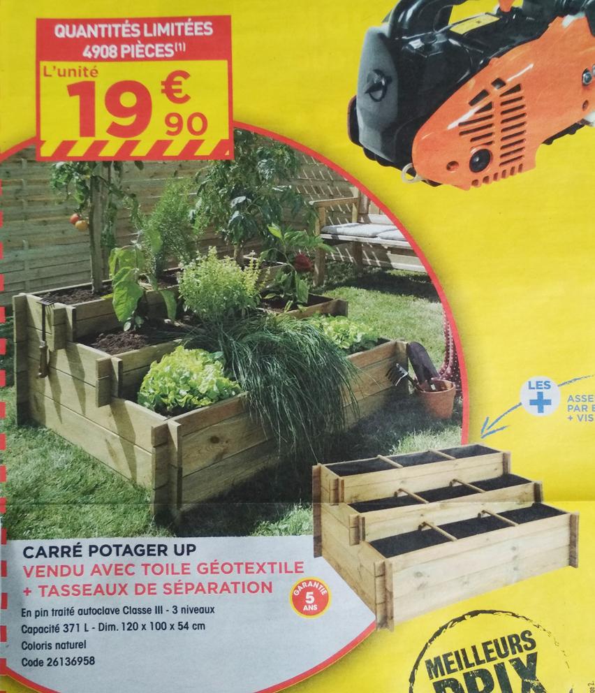 Carré potager Up - Bac surélevé trois niveaux pour plantations