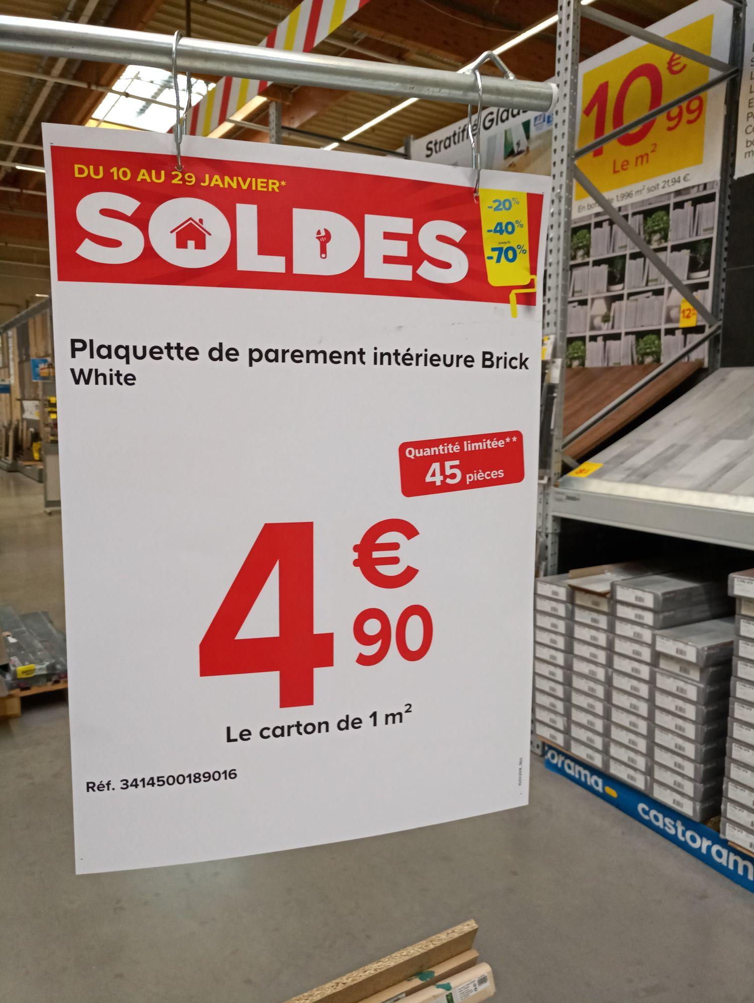 Plaquette de Parement intérieur Brick - White  - Bourg en Bresse (01)