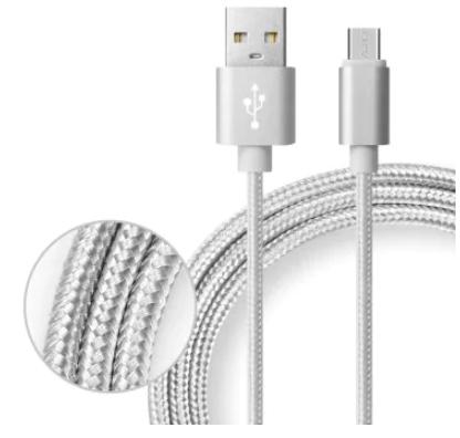 Câble de chargement de données 2 en 1 Micro USB - 1m