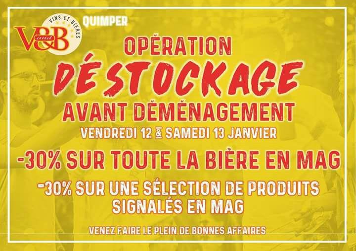 30% de réduction sur la bière et sur une sélection de produits - V and B Quimper (29)