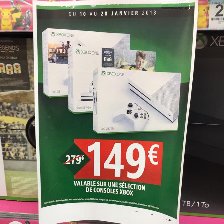 Sélection de packs Microsoft Xbox One S - 500 Go (Fifa 17 ou Battlefield 1) - Le Cres (34)