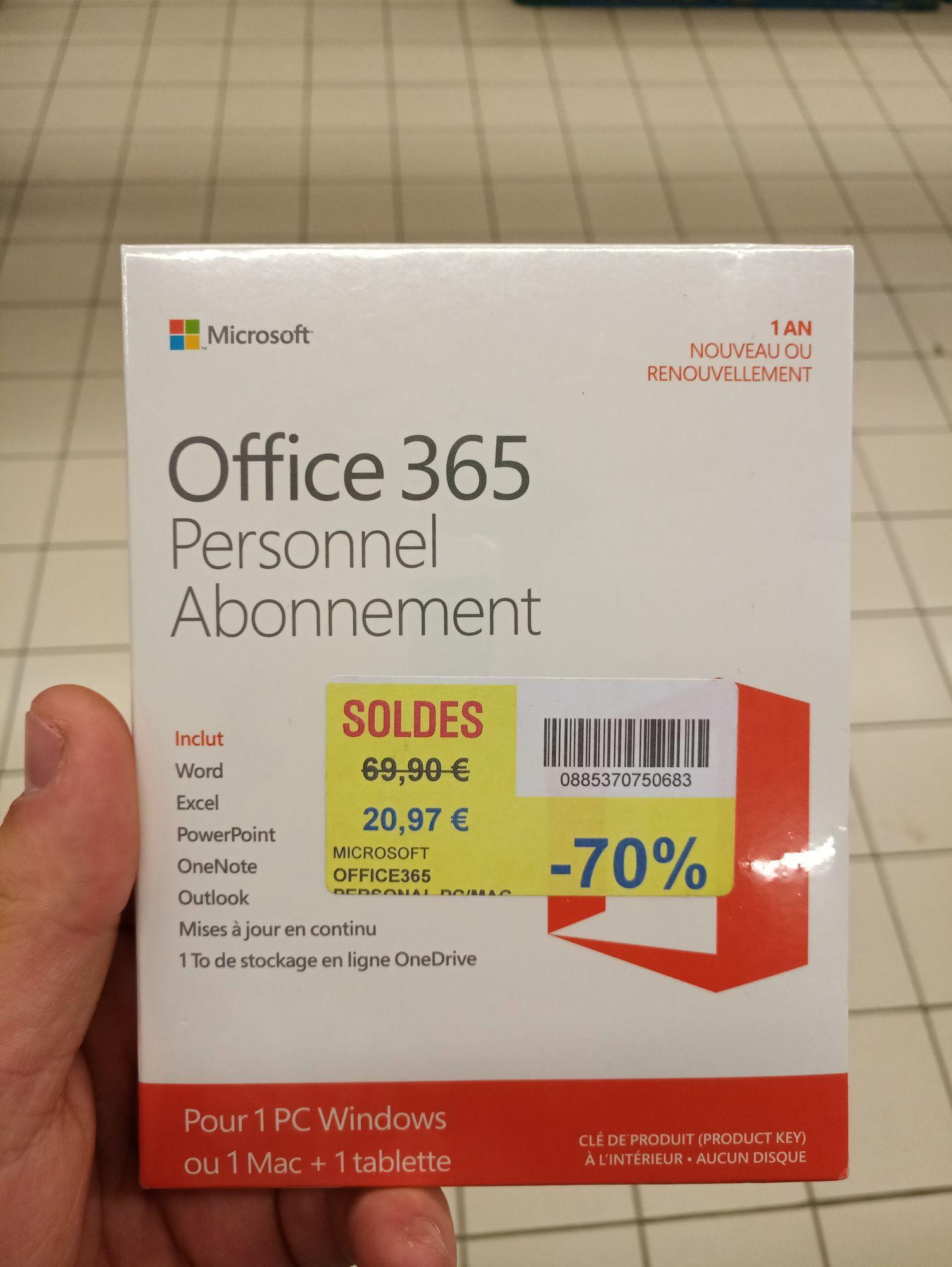 Abonnement Office 365 - 1 Poste - Bourg en Bresse (01)