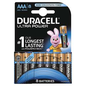 Duracell Ultra Power Piles Alcalines type AAA - 8 Piles