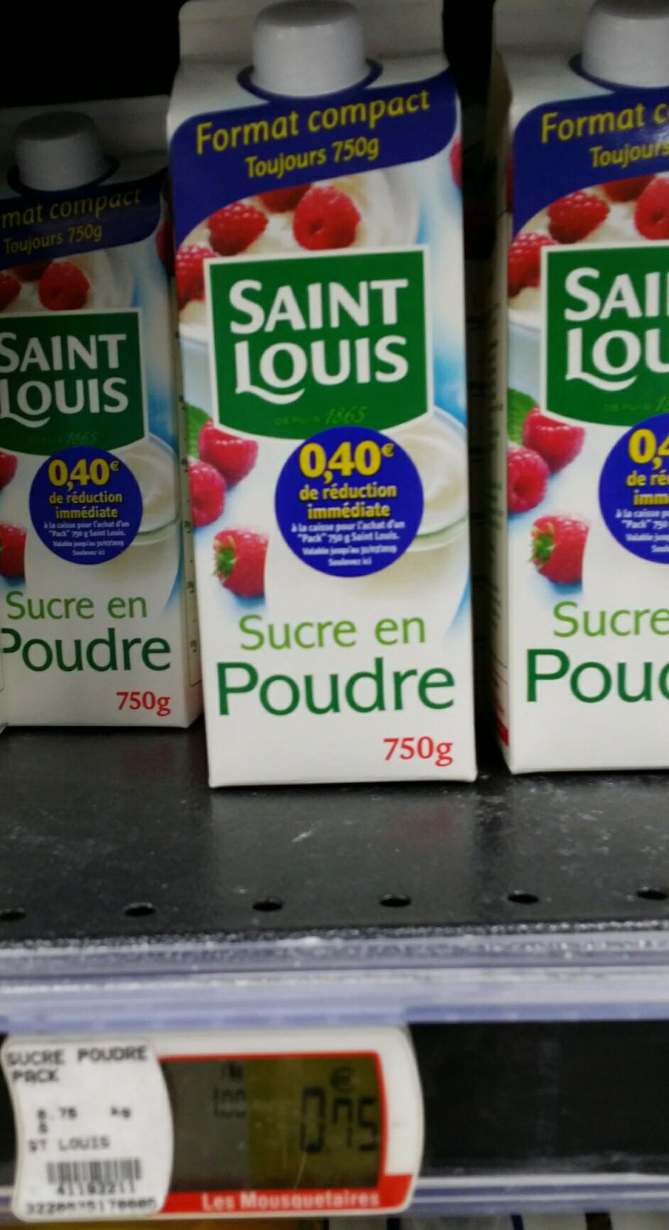 Sucre en poudre Saint Louis 750g - Cugnaux (31)