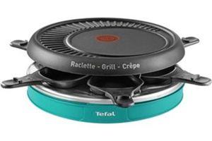 Raclette électrique Tefal RE129412 (un étui de rangement, 6 coupelles et 6 spatules antiadhésives)