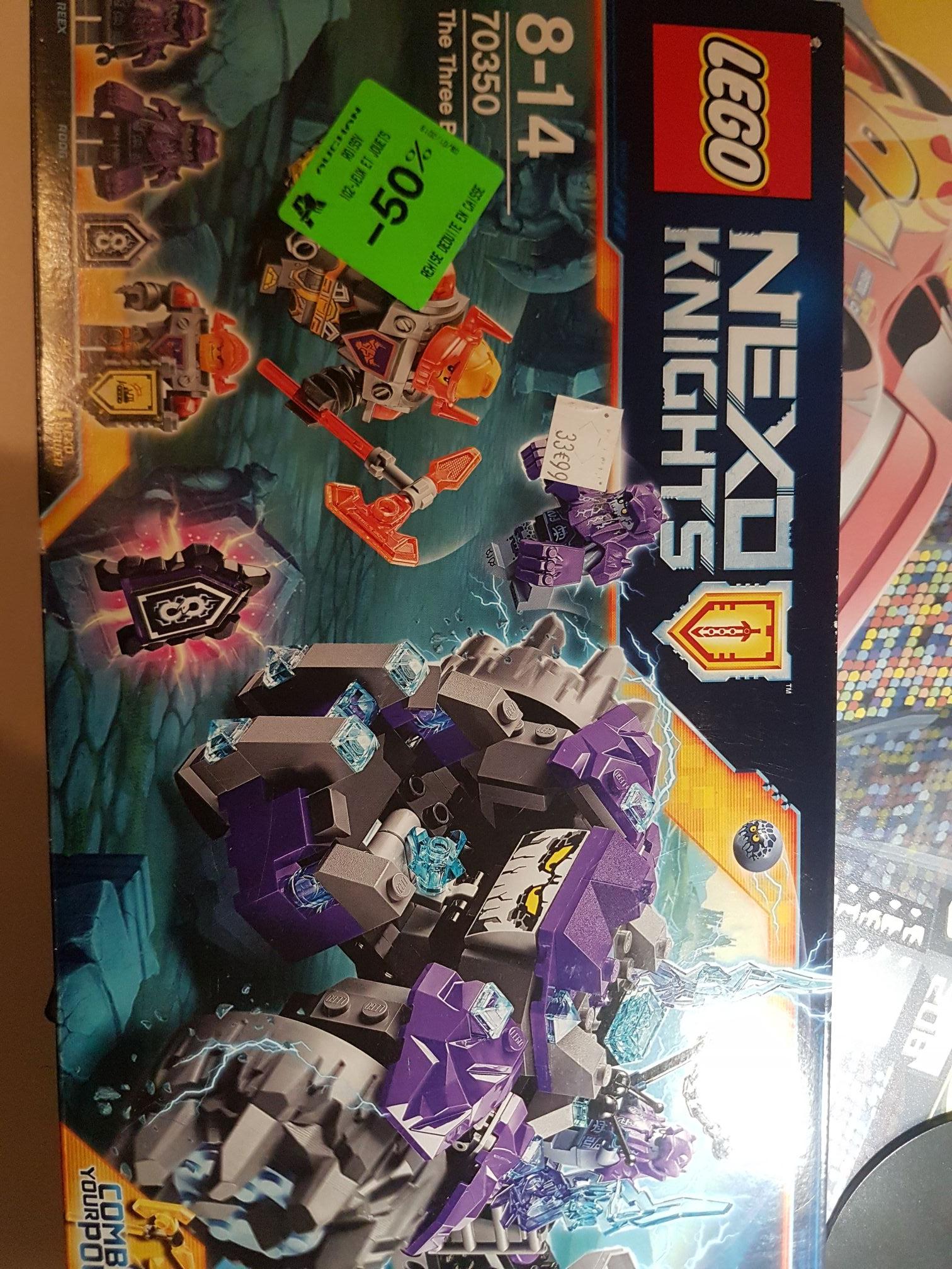 Jeu Lego Nexo Knights - The Three Brothers (70350) au Auchan Roissy-en-France (95)
