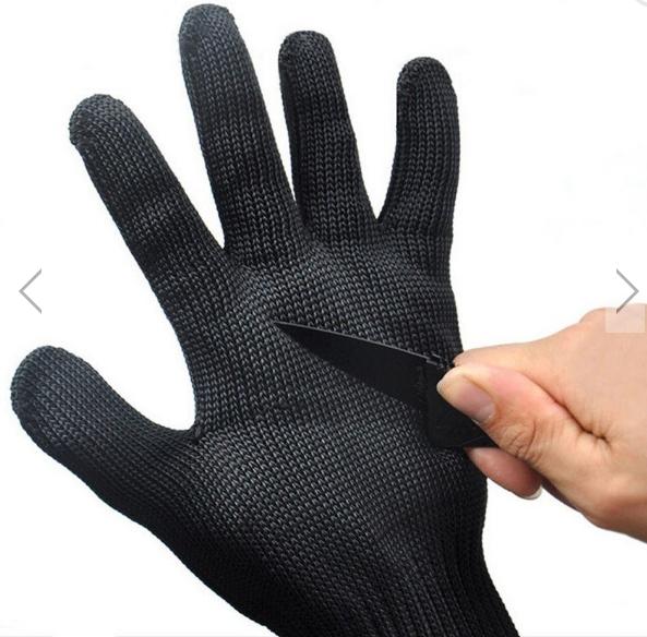 Paire de gants anti-coupures - en fibres polyéthylène + fils d'acier inox