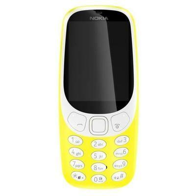 "Téléphone portable 2.4"" Nokia 3310 - version 2017, jaune (via ODR de 20€)"