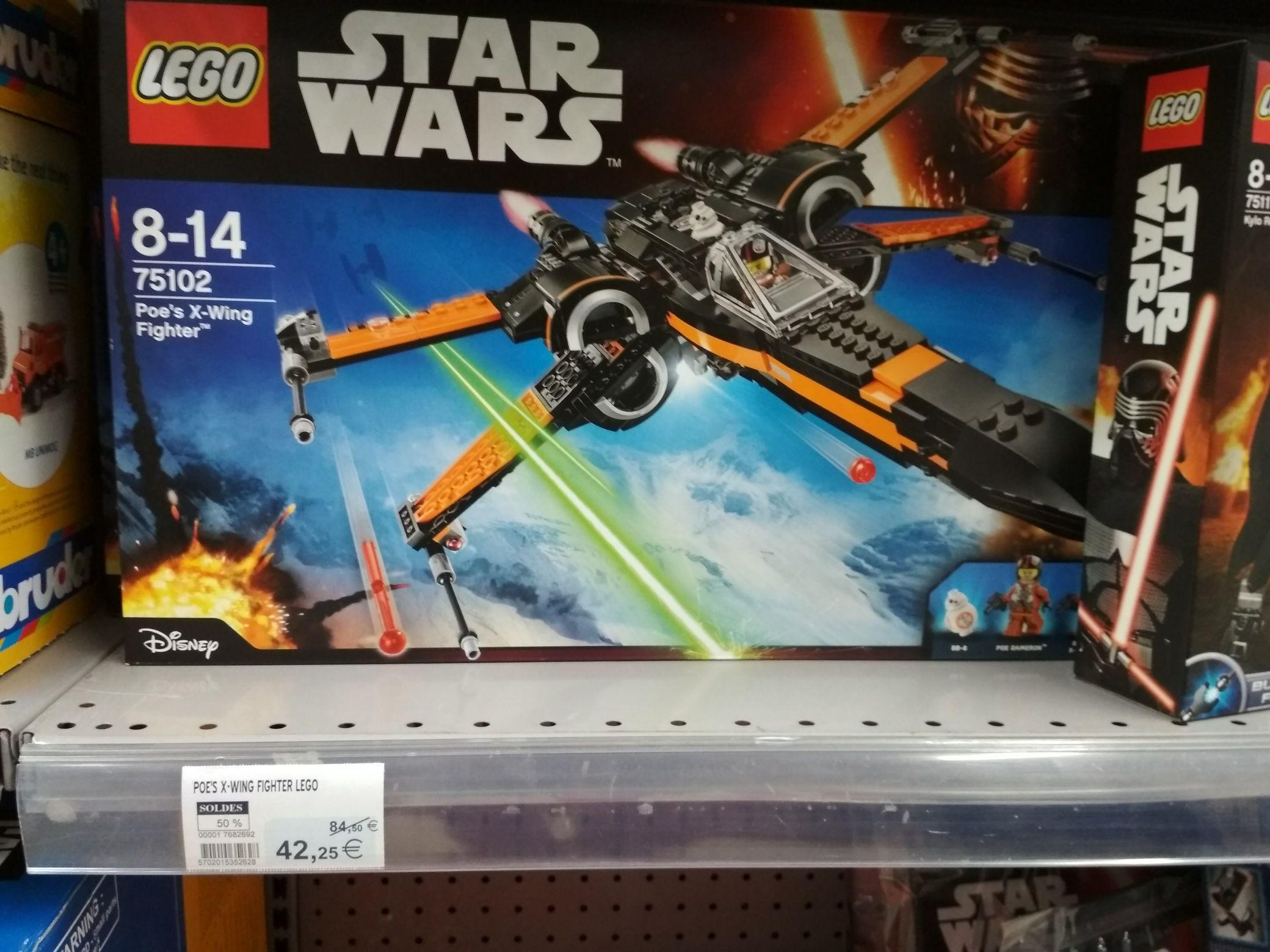 50% de réduction sur les LEGO Star Wars -  Ex : X-Wing Poe's Fighter  - SuperU Ancenis (44)