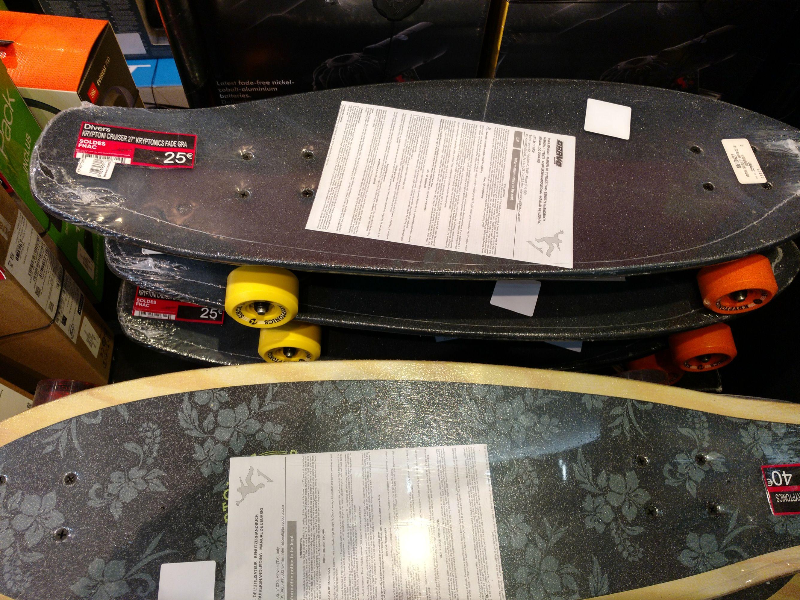Sélection de skateboards, cruisers et longboards - Ex: Kryptonics Cruiser 27 - Avignon (84)