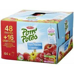 Paquet de 64 gourdes Pom'Potes - différents goûts