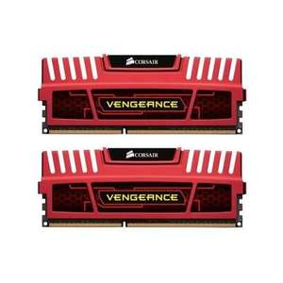 Kit mémoire DDR3 Corsair Vengeance RED - 8 Go (2 x 4), 1600 Mhz, Cas 9