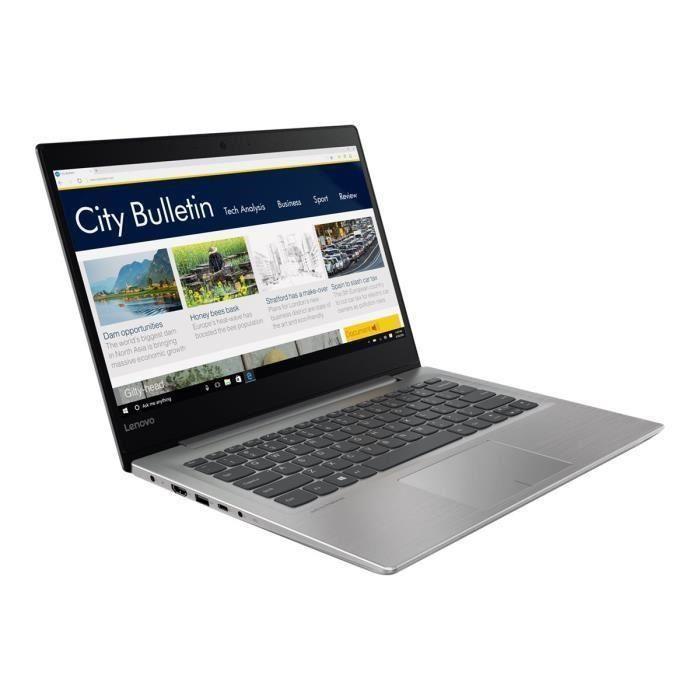 "PC Portable 14"" Lenovo Ultrabook Ideapad 320S-14IKB - HD, RAM 4Go, Intel Core i3-7100U, Stockage 1To + 128Go SSD, Intel HD Graphics, Windows 10"