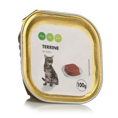Pâte pour chat au lapin - Tous les jours - 100g